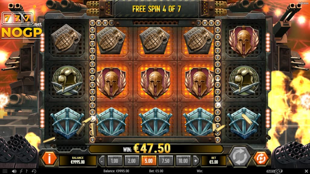 Sabaton video slot - Gratis spins feature screenshot