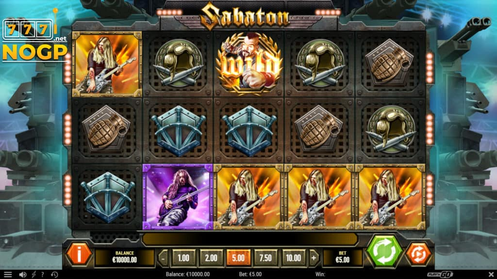 Sabaton gokkast  Play'n GO screenshot