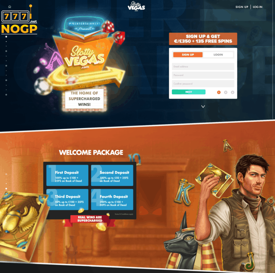 SlottyVegas Casino screenshot