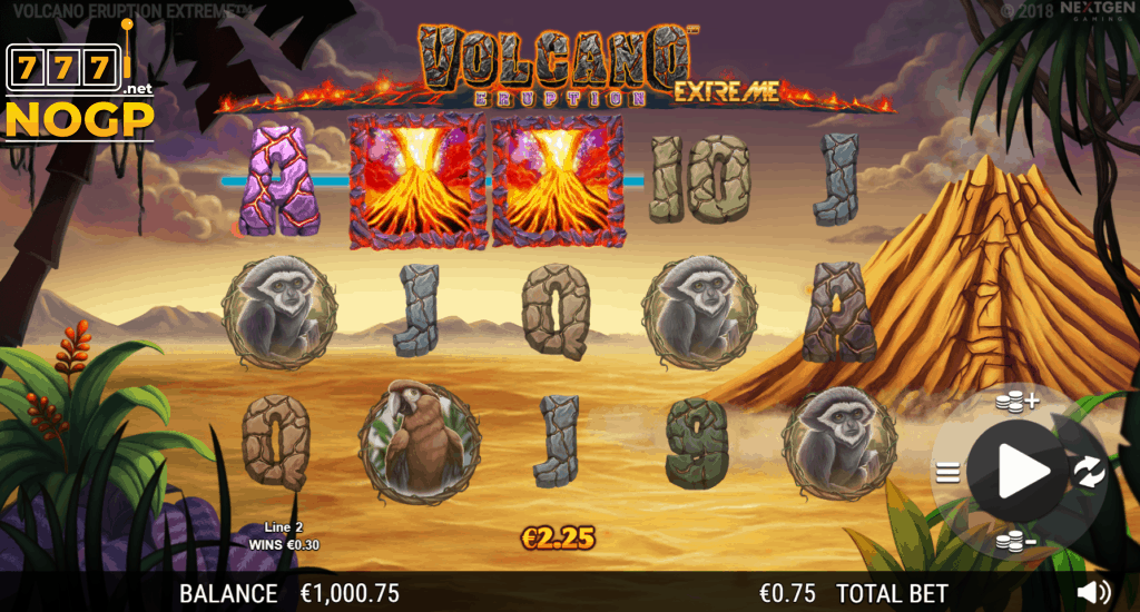 Volcano Eruption Extreme video slot screenshot