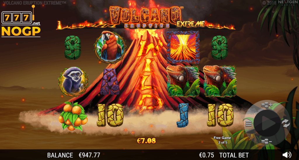 Volcano Eruption Extreme video slot - Eruption feature
