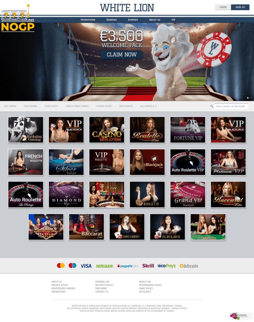 Live Casino Spellen White Lion Bets