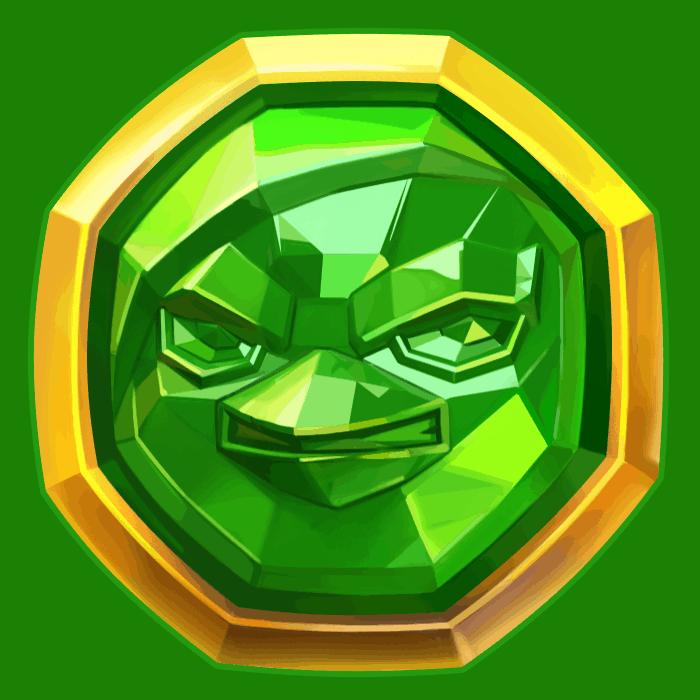 Wild Worlds video slot NetEnt - Green symbol