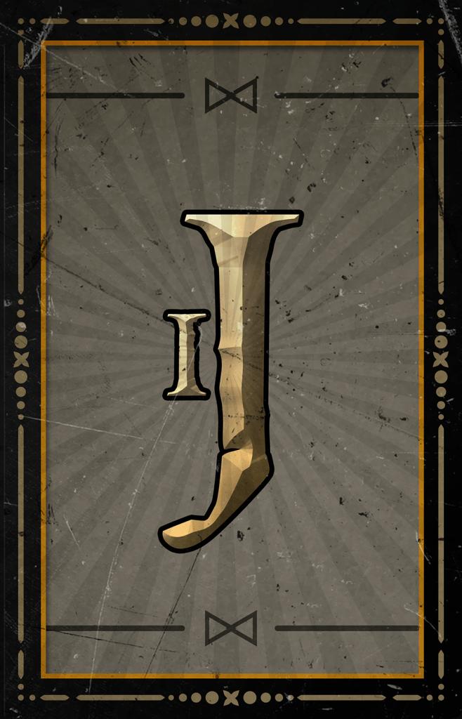 Arcane Reel Chaos video slot - J symbol