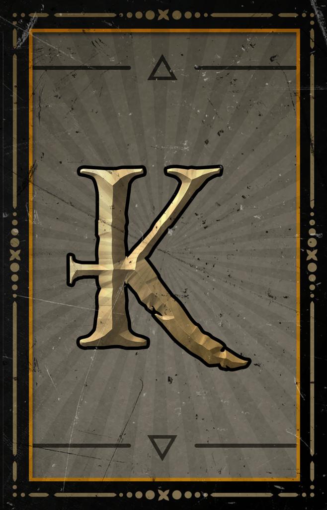 Arcane Reel Chaos video slot - K symbol