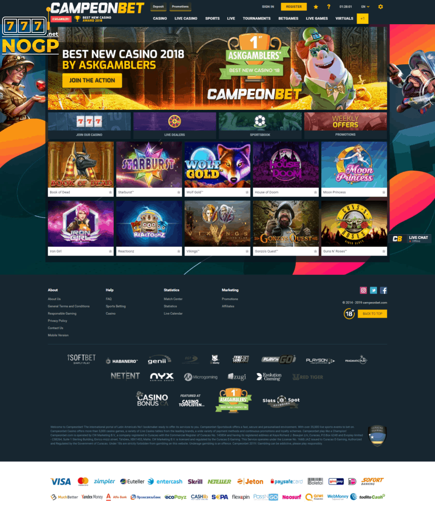 Campeon Bet Casino screenshot