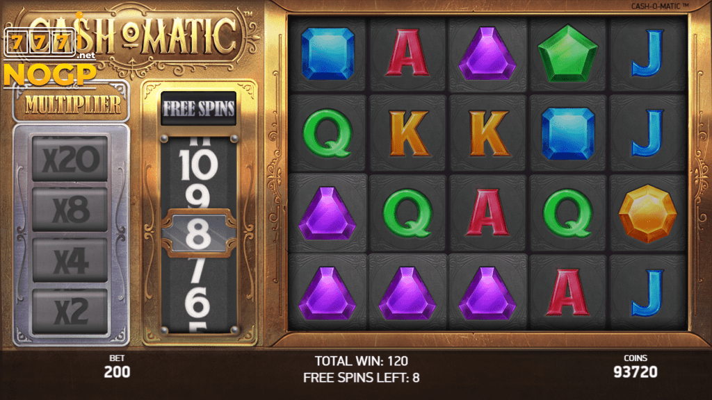 Cashomatic video slot Gratis spins feature