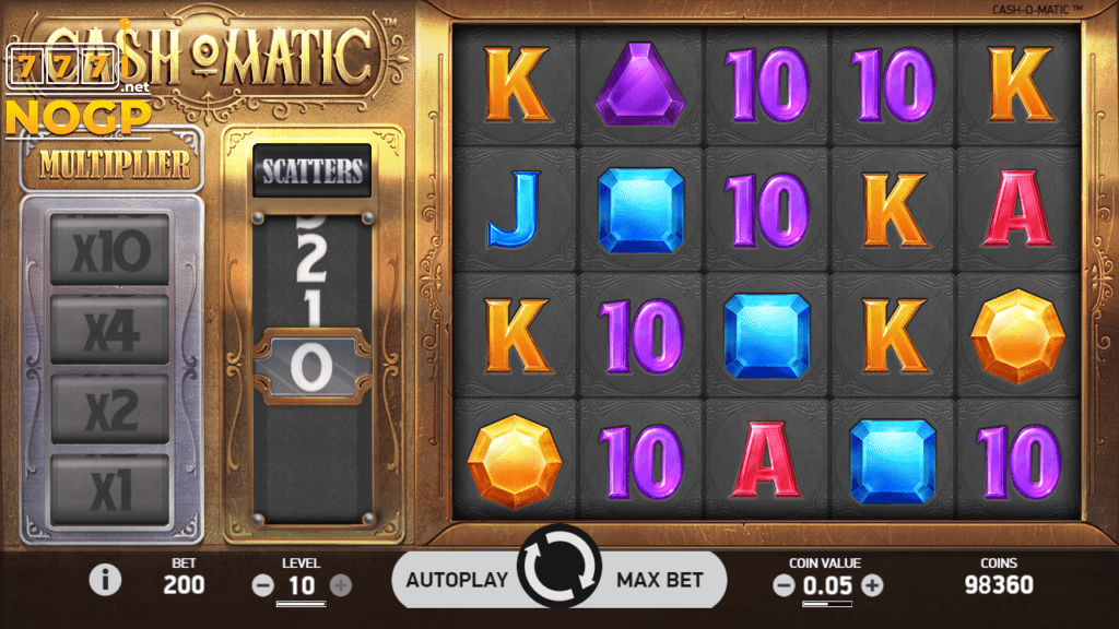 Screenshot van NetEnt's Cash-O-Matic video slot