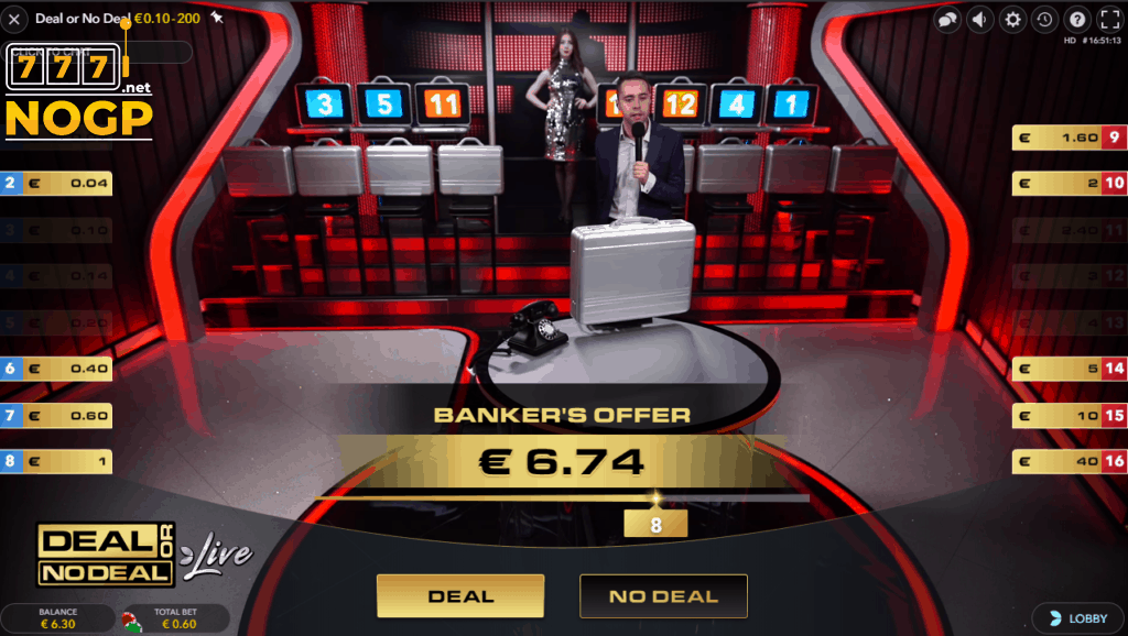 Deal or No Deal - Kofferspel deal