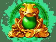 Dragon Chase video slot - Golden frog symbol