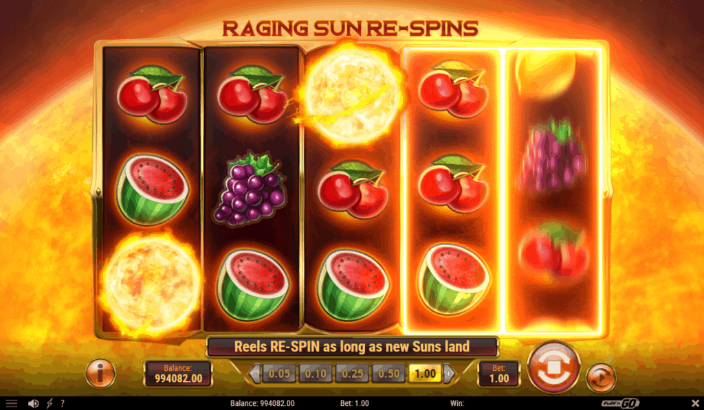Inferno Star - Raging Sun Re-spin feature