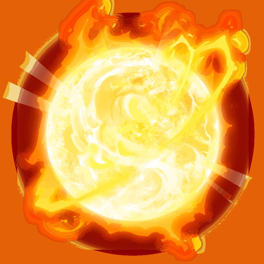 Inferno Star video slot - Raging Sun Scatter symbol