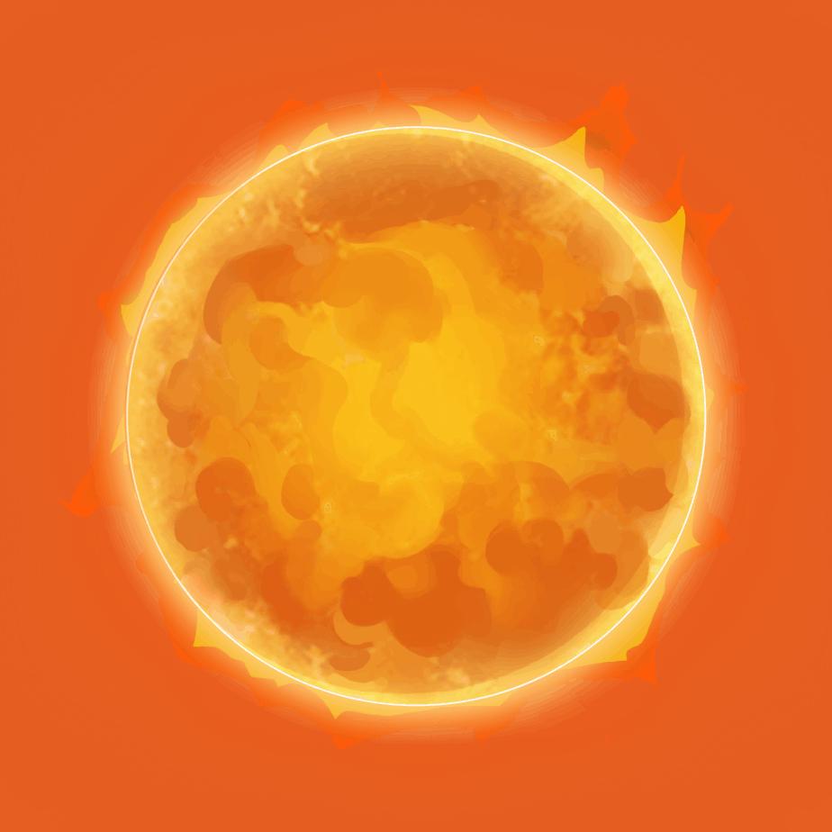 Inferno Star video slot - Sun symbol