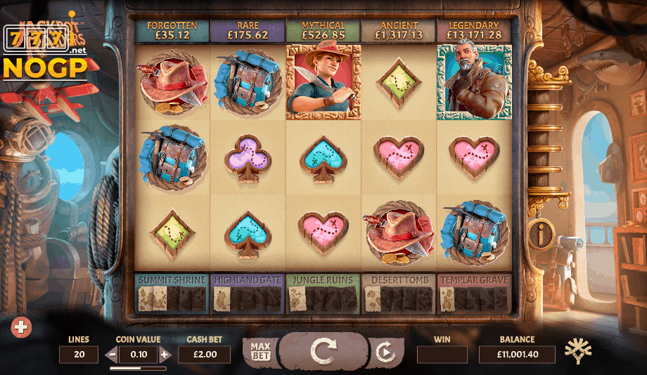Jackpot Raiders video slot screenshot