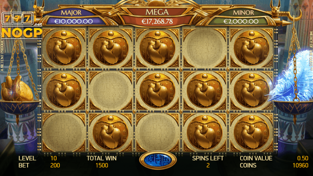 Mercy of the Gods video slot - Gift of Wealth Jackpot Bonus Game