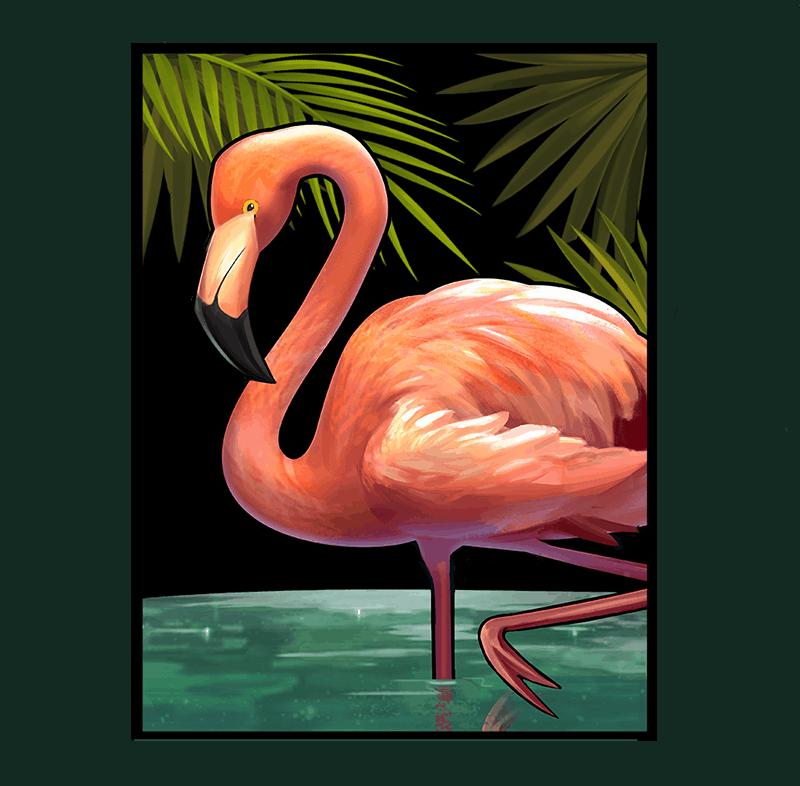 Narcos video slot - Flamingo symbol
