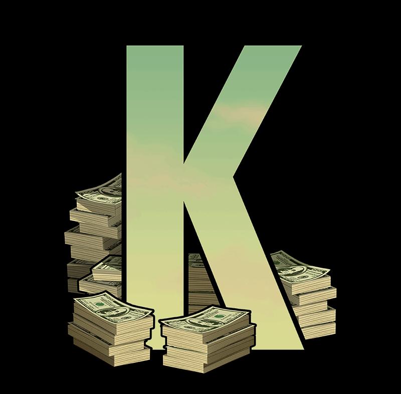 Narcos video slot - K symbol