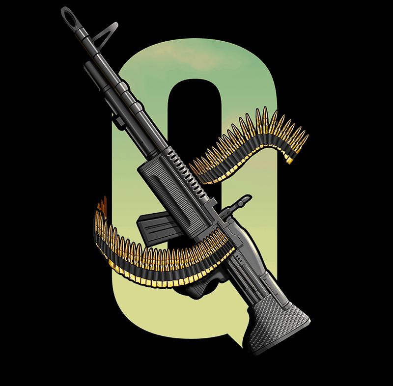 Narcos video slot - Q symbol