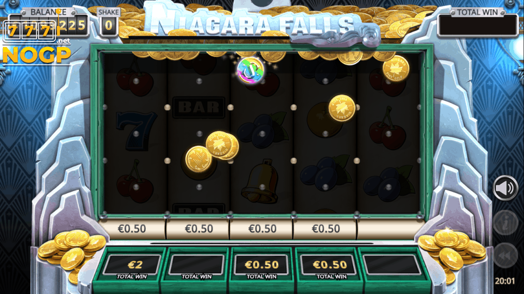 Niagara Falls Cash Fall Down feature