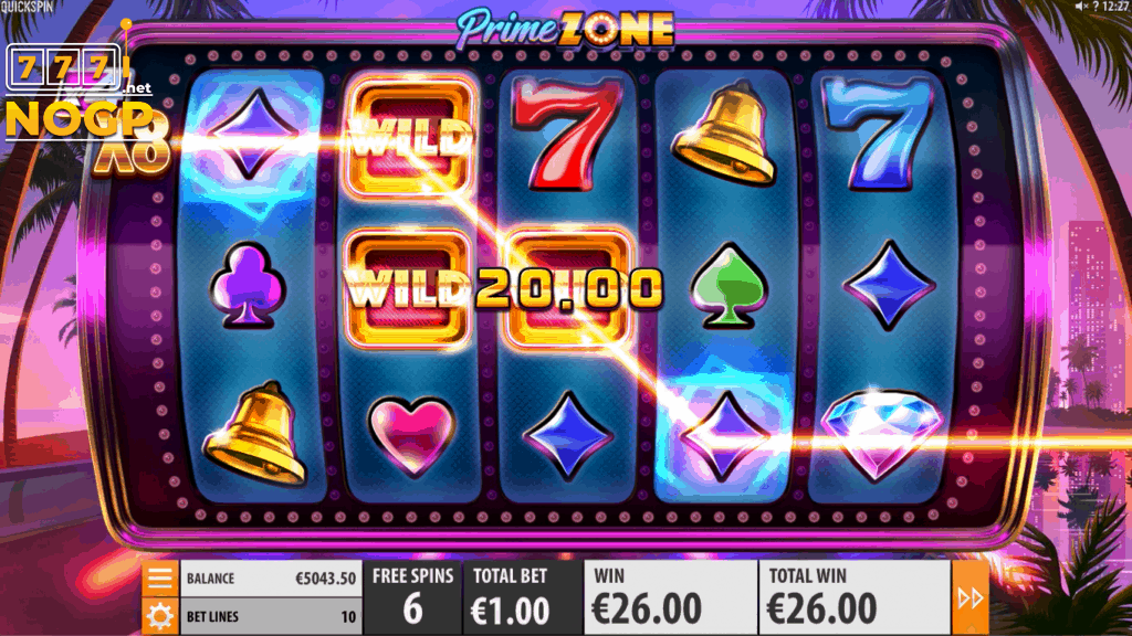 Prime Zone video slot - Gratis spins feature screenshot
