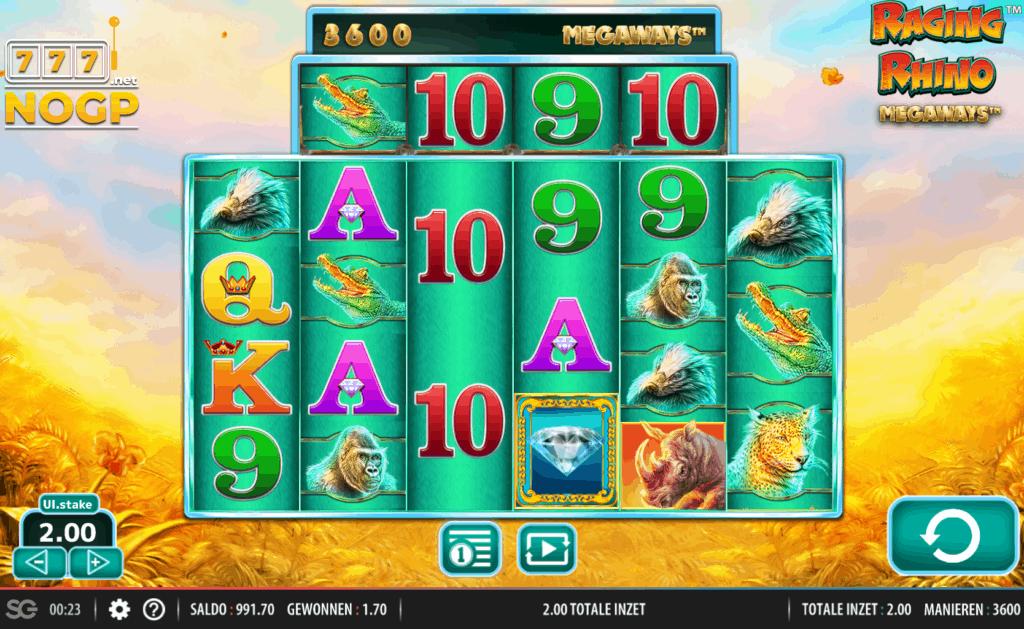 Raging Rhino Megaways slot - screenshot