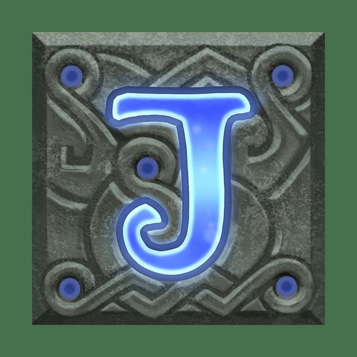 Ravens Eye video slot - J symbol