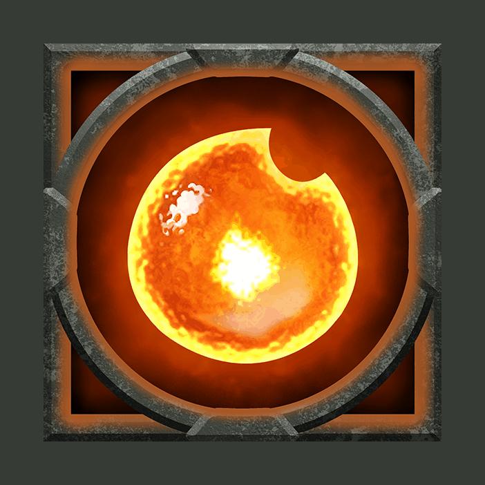 Ravens Eye video slot - Fire symbol