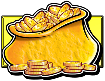 Reel King Mega video slot - Gold Bag symbol