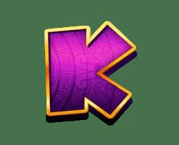 Return of Kong Megaways video slot - K symbol