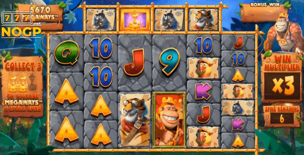 Return of Kong Megaways slot - Gratis spins feature
