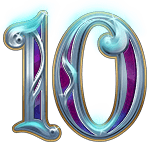Rise of Merlin video slot - 10 symbol