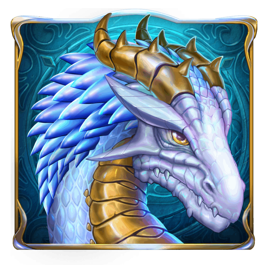 Rise of Merlin video slot - Blue Dragon symbol