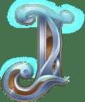 Rise of Merlin video slot - J symbol