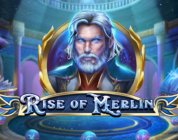 Rise of Merlin video slot logo