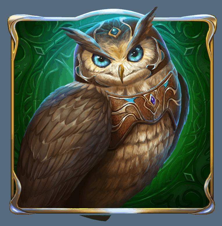 Rise of Merlin video slot - Owl symbol