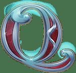 Rise of Merlin video slot - Q symbol