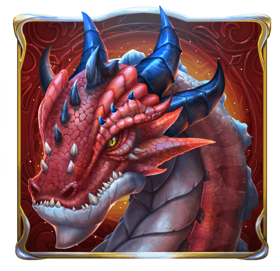 Rise of Merlin video slot - Red Dragon symbol