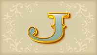Sticky Bandits video slot - J symbol