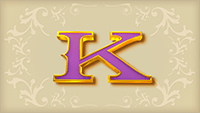 Sticky Bandits video slot - K symbol