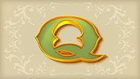 Sticky Bandits video slot - Q symbol