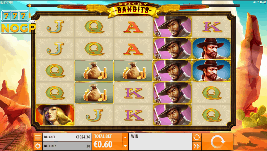 Quickspin's Sticky Bandits video slot