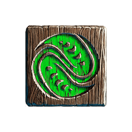 Tahiti Gold video slot - Green icon symbol