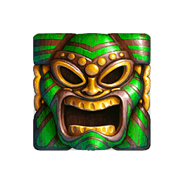 Tahiti Gold video slo - Green Tiki Mask symbol