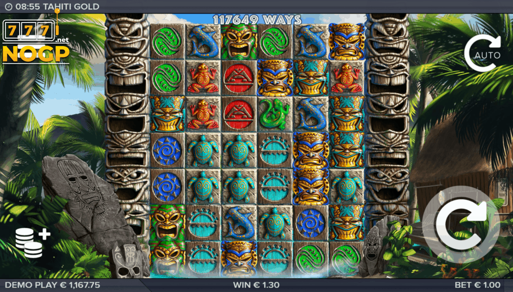 ELK Studios Tahiti Gold video slot screenshot