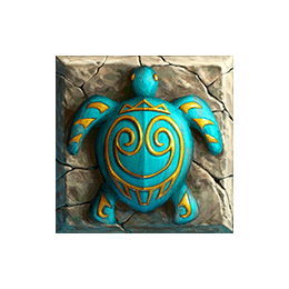 Tahiti Gold video slot - Turtle symbol
