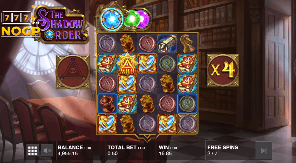 The Shadow Order slot - Gratis spins feature