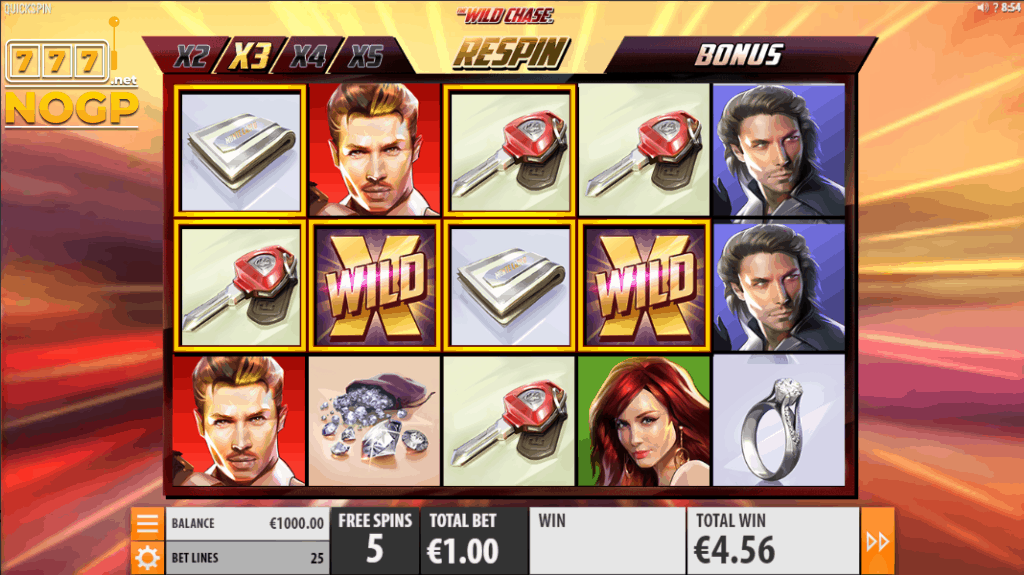Quickspin's The Wild Chase slot - Gratis spins feature