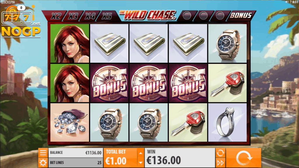 Wild Chase video slot Quickspin - Screenshot