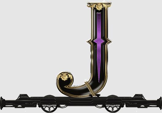 Wild Rails video slot - J symbol