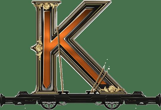 Wild Rails video slot - K symbol